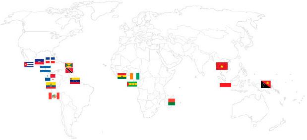 карта поставок какао бобов